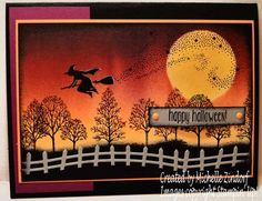 Halloween Wicked Witch – Stampin' Up! Card Created By Michelle Zindorf - Spooky Fun, Lovely As a Tree, Star of Light