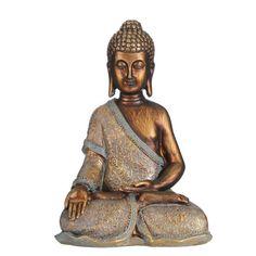 Figura Buda Dorado Deco Design Pas Cher, Statues, Buddha, Ceramics, Ganesh, Google, Oriental Decor, Sculpture, Art
