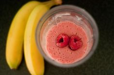 Batido para dieta reductora de Banana y Frambuesa