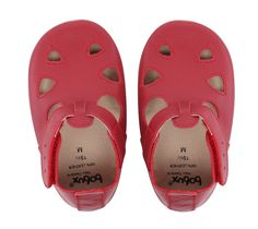 Bobux Baby Shoes - T-bar Sandal Red
