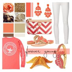 """""""Preppy Peach"""" by littledesigns ❤ liked on Polyvore featuring Jack Rogers, Fornash, Dooney & Bourke, Philmore, Kate Spade, women's clothing, women, female, woman and misses"""