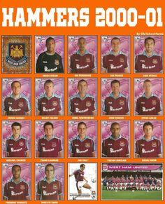 Old School Panini Best Football Team, Football Cards, Football Jerseys, Baseball Cards, West Ham United Fc, West Ham Team, World History, Vignettes, Old School