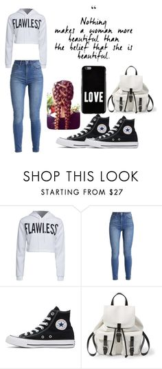 """""""Flawless #2"""" by are-you-fashionable ❤ liked on Polyvore featuring WithChic, Converse, Steve Madden, Givenchy, casualoutfit, flawless, highschool and wattpad"""