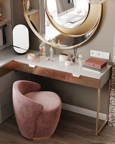 Corner Dressing Table, Dressing Table With Chair, Dressing Table Design, Dressing Table Vanity, Bedroom Corner, Small Master Bedroom, Bedroom Bed Design, Bedroom Decor, Office Interior Design