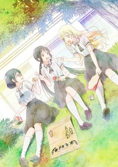 TV Anime Asobi Asobase Celebrates Japan's Marine Day with Special Swimsuit Art Anime Best Friends, Friend Anime, Friends Girls, Animes Online, Online Anime, Anime Dvd, Manga Anime, Otaku Anime, Anime Summer