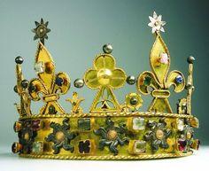 Philip the Bold of Burgundy Crown century gold, diamonds, pearls France - Dijon - Musée des Beaux Arts Royal Crown Jewels, Royal Crowns, Royal Tiaras, Royal Jewelry, Tiaras And Crowns, Jewellery, Medieval Jewelry, Ancient Jewelry, Antique Jewelry