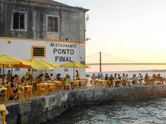 ponto final, seafood and sunsets Portugal Travel, Spain Travel, Portugal Trip, Lisbon Restaurant, Voyage Europe, Destination Voyage, Hotels, City Break, Algarve