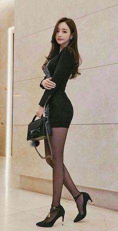 It's in the title. No porn or nudity within. None of these pictures are mine. Ps I'm a male who happens to have a thing for women dressed with black nylons. Fashion Moda, Girl Fashion, Womens Fashion, Asian Hotties, Asia Girl, Beautiful Asian Women, Asian Style, Asian Fashion, Asian Woman