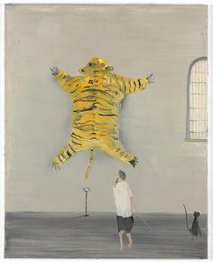 Norbert Schwontkowski (German, 1949-2013), How to look at Art, 2009. Oil on canvas, 100 x 80 cm.