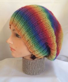 Knitted Slouch Hat Knit Slouch Hat Wool Slouch Hat by djfleesh #FreeProTeam