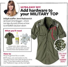 Military Top - InStyle DIY