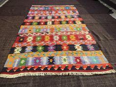 "Tribal Kilim Rug,10,8""x6,3"" Feet 325x188 Cm Large Turkish Kilim Rug,Decorative Handwoven Rare Pattern Anatolian Kilim Rug,Vintage Kilim."