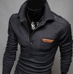Shirt Type: Long Sleeve Polo Gender: Men Style:Fashion Material: Cotton Sleeve Length: Full Shipping: FREE - Worldwide! #MensFashionShirts