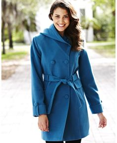 Hooded Non-wool Coat. Totally practical!