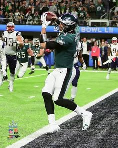 ce7eb4e43d0 Philadelphia Eagles Super Bowl LII Nick Foles Philly Special Touchdown  Catch NFL Football 8