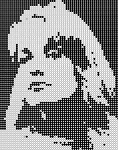 Laura Palmer from Twin Peaks pattern for cross stitch or melty beads
