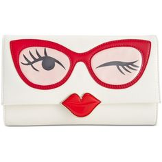 kate spade new york Rose-Colored Glasses Frames Clutch (3,605 MXN) ❤ liked on Polyvore featuring bags, handbags, clutches, multi, rosette handbag, kate spade handbag, rosette purse, kate spade clutches and frame clutch