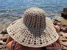 Crochet Floppy Beach Hat Crochet pattern by Lyubava Crochet Crochet Yarn, Crochet Stitches, Crochet Skirts, Crochet Granny, Crochet Designs, Crochet Patterns, Skirt Patterns, Coat Patterns, Blouse Patterns
