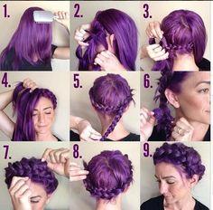 12 Pretty Braided Crown Hairstyle Tutorials and Ideas | Pretty Designs