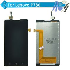 Replacement LCD Display Touch Digitizer Screen Assembly Complete For Lenovo P780 +Tools Black Free Shipping