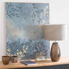 GRAZIELLA copper-colour ceramic lamp H 45 cm