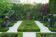 Geometric Garden - Jan Showers Design - Artful Toronto Home - Veranda