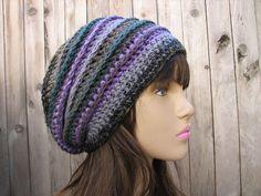 easy crochet slouchy hat pattern – Knitting Tips Mode Crochet, Diy Crochet, Crochet Crafts, Crochet Projects, Yarn Crafts, Crochet Boys, Ravelry Crochet, Crochet Slouchy Hat, Knitted Hats