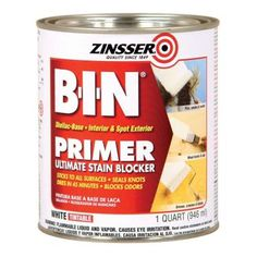 Zinsser 1-qt. White BIN Shellac Interior and Spot Exterior Primer and Sealer-00904 at The Home Depot