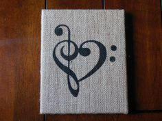 for the love of music  8x10 on Burlap by BeccasBitsandPieces, $30.00