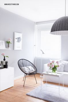 Living Room: Acapulco Chair, Muuto Under The Bell, Ikea Besta, Hay Tray Table