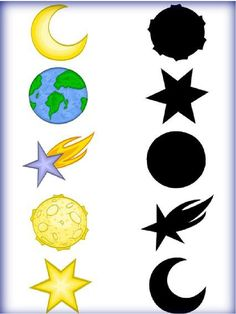 "Дидактична гра ""Знайди тінь"" 14 тиждень НУШ Solar System Activities, Space Activities, Preschool Learning Activities, Preschool Worksheets, Toddler Activities, Preschool Activities, Kids Learning, Space Preschool, Space Theme"