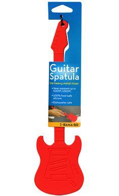 i bet these make rockin pancakes :p GUITAR BAKING SPATULA RED