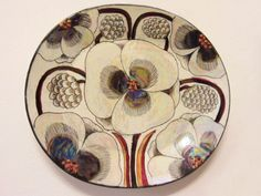 Birger Kaipiainen Platters designed with flowers & fruit in high relief by the Finn, who worked at Arabia (tableware) for fifty years. China Painting, Ceramic Painting, Ceramic Artists, Pottery Plates, Ceramic Plates, Ceramic Pottery, Plant Illustration, Sgraffito, Ceramic Flowers