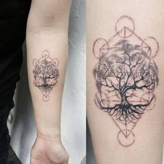 "281 Likes, 12 Comments - Tatty Catty Jen   ฅ(ミↀᆽↀミ)✧ (@jenxtattoos) on Instagram: ""A tree of life within the human's own tree of life, the Kabbalah  #tattoo #tattoos #sgtattoo…"""