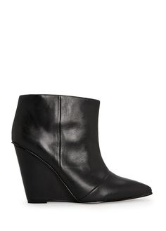 Mango - WEDGE LEATHER ANKLE BOOTS