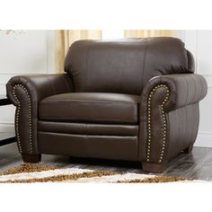 Beau Distressed Leather Club Chair With Studded Arms | Loft | Pinterest |  Distressed Leather, Leather Club Chairs And Brown Leather Chairs