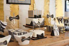 Mr. ONEderful Tuxedo Themed 1st Birthday Party via Kara's Party Ideas…