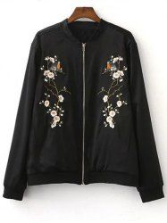 SHARE & Get it FREE | Blossom Tree Embroidery Slim Jacket For WomenFor…