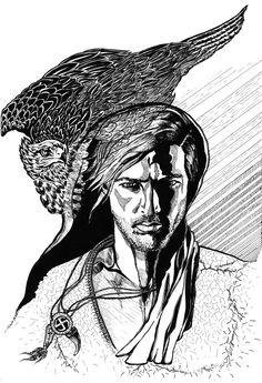 "Art by FON - KROMENDORFF The ""Falcon"""