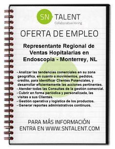 Representante Regional de Ventas Hopitalarias en #Endoscopia en #Monterrey, NL