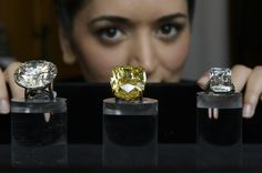 """The """"Graff Vivid Yellow"""", star lot at Sotheby's on May 13, is a yellow diamond weighing 100.09 carats that was cut by the London-based top jeweler Laurence Graff."""
