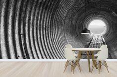 Corrugated Tunnel - Wall Mural & Photo Wallpaper - Photowall
