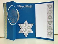 Hanukkah card http://heidistampinalong.blogspot.ca/2013/11/the-wacky-watercooler-2013-year-end.html