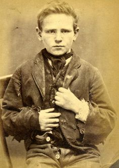Thirteen-year-old James Scullion was sentenced to 14 days' hard labor for stealing clothes. After this he was sent to Market Weighton Reformatory School for three years. From the Tyne & Wear Archives & Museums Flickr page. According to the page, all the prisoners photographed spent time in Newcastle Gaol between December 1871–December 1873. via vintage everyday