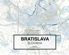 Bratislava - Slovakia. Download CAD Map city in dwg ready to use in Autocad. www.mapacad.com