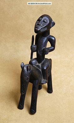Senufo Diviner ' S Equestrian Figure Horse Rider Statue African Art Burkina Faso Sculptures & Statues photo 1