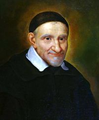 July 19 Saint Vincent de Paul was born at Pouy, Gascony, France, in though some authorities have said He was born of a peasant family. Catholic News, Catholic Saints, Patron Saints, Roman Catholic, Catholic Priest, Happy Feast Day, Daughters Of Charity, Lady Of Lourdes, San Vicente