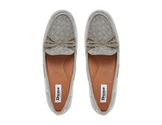 DUNE LADIES GLORIUS - Woven Apron Suede Driver Loafer - grey | Dune Shoes Online