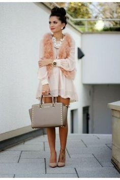 dress tunic blush dress blush tunic pink girly fashion fashion bloggers style blogger ootd get the look wiwt bag