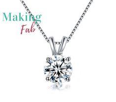 Aniyah CZ Diamond Solitaire Necklace